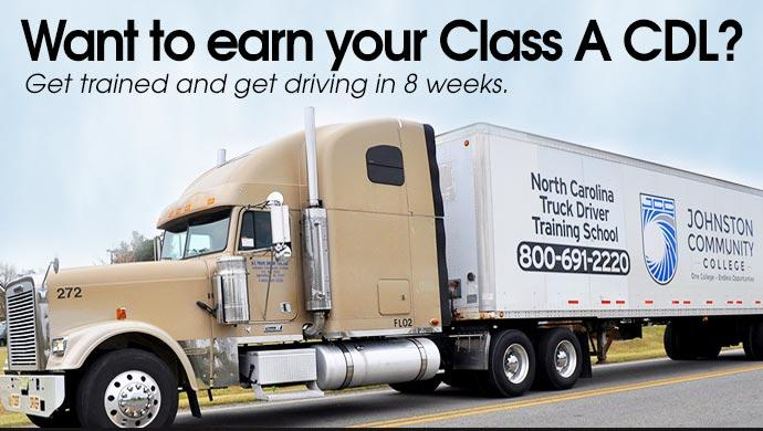 Want to earn your Class A CDL? Get trained and get driving in 8 weeks.