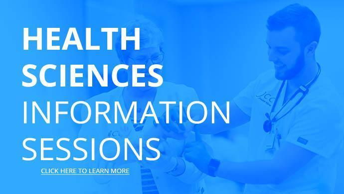Health Sciences Information Sessions - Click here to learn more.