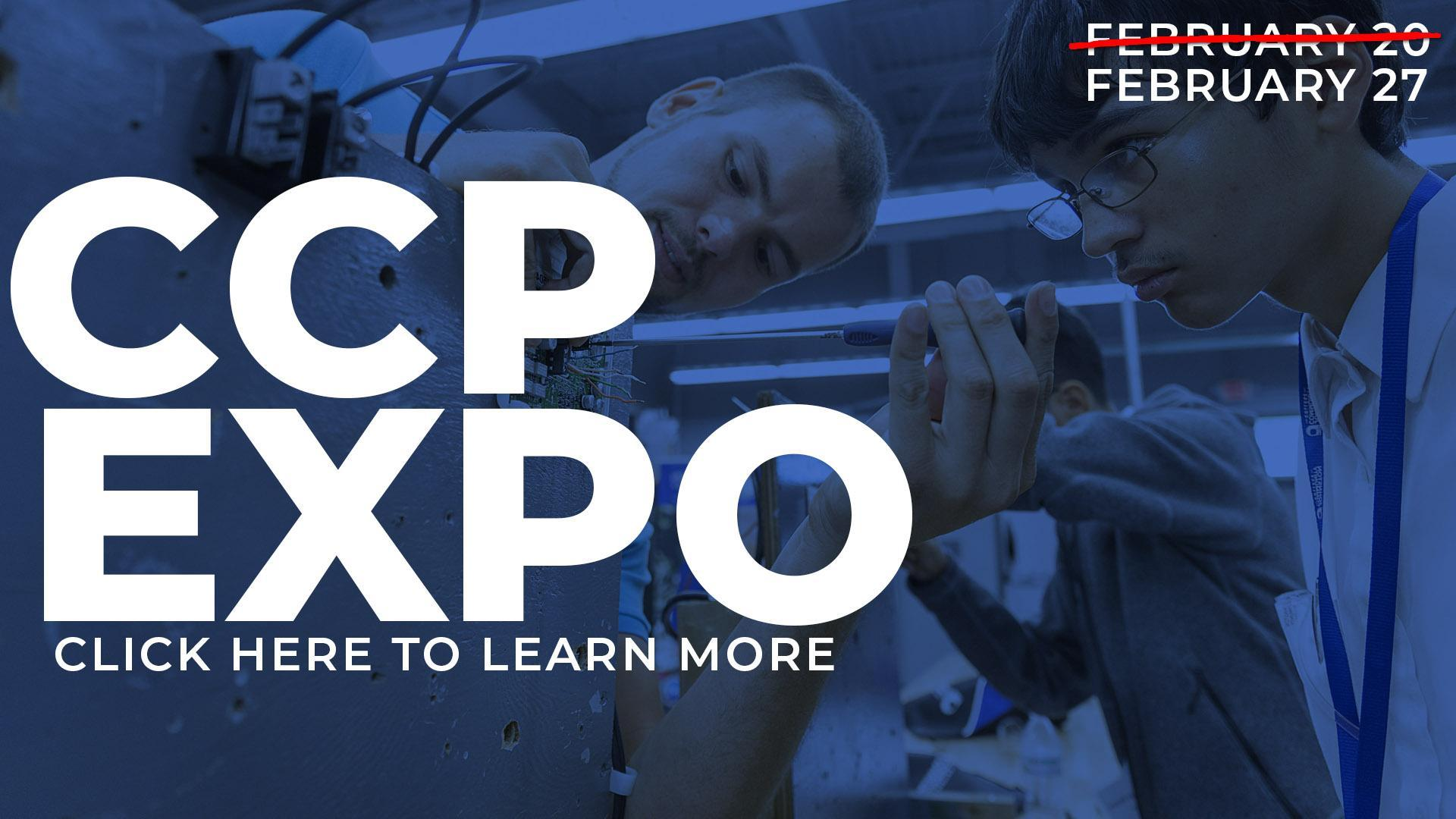 CCP Expo. February 27th, 2020. Click here to learn more.