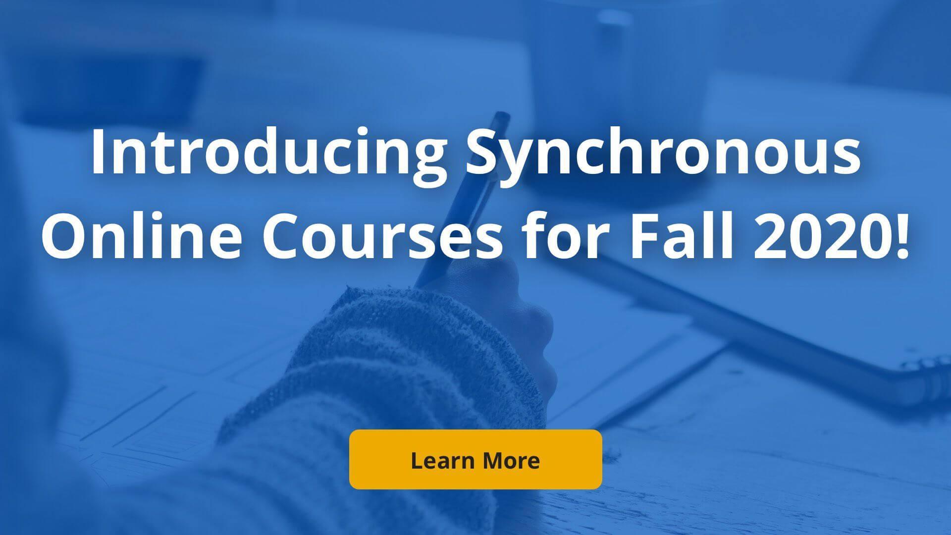 Synchronous Online Courses