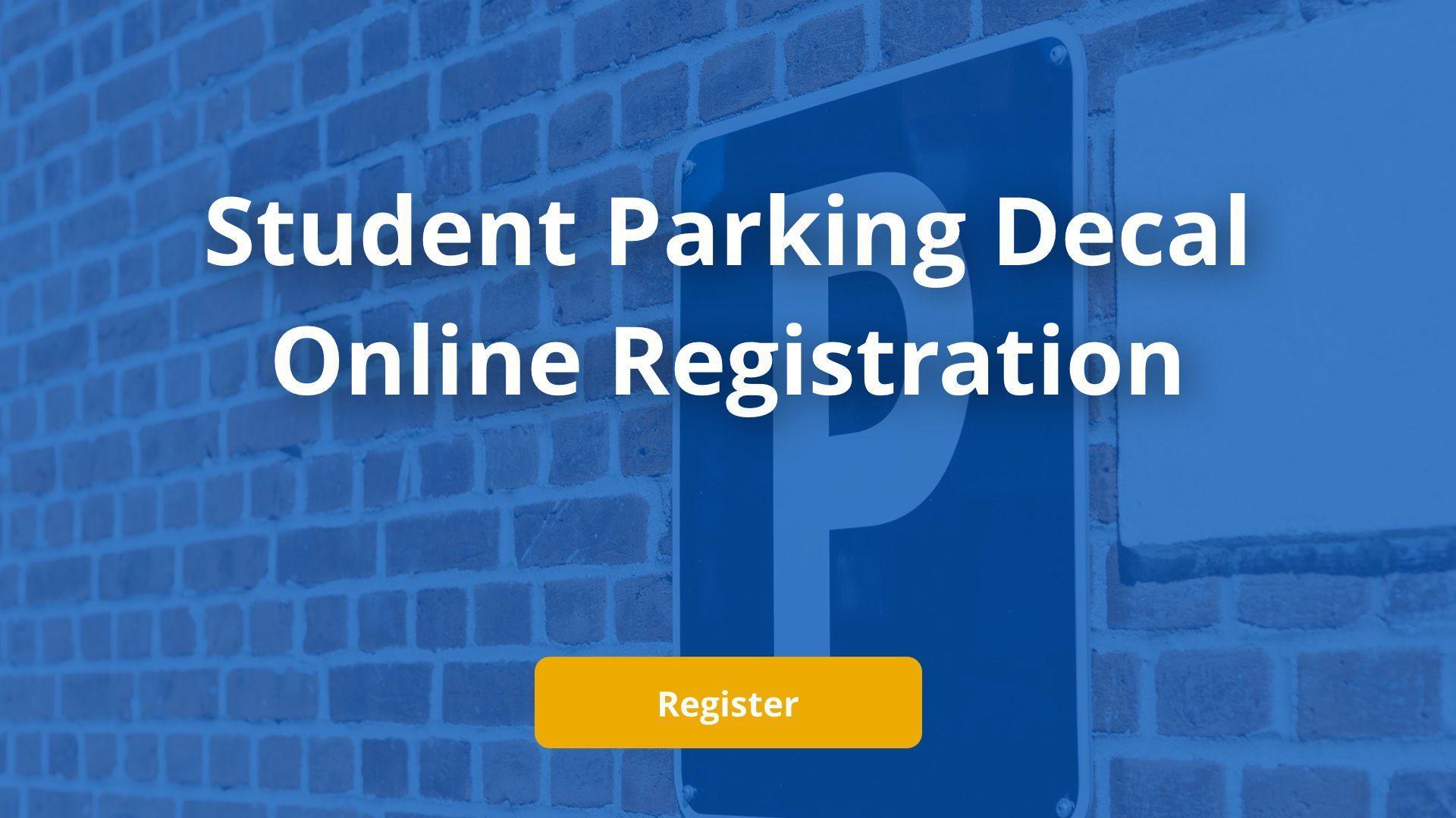 Student Parking Decal Online Registration