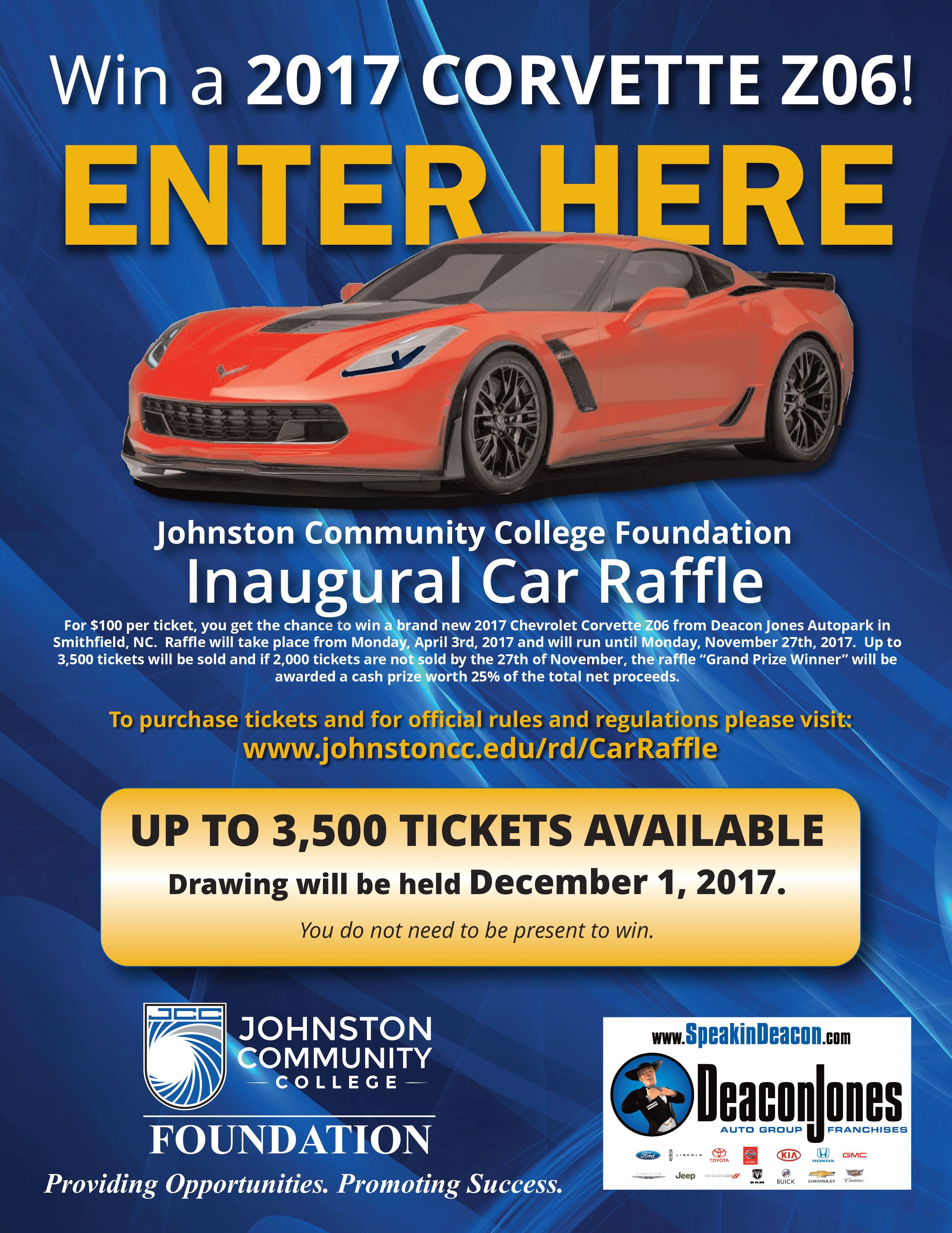 flier for car raffle