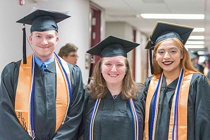 577 students earned credentials in 2017-18.