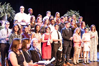 JCC inducted 93 students into the Beta Zeta Theta chapter of the Phi Theta Kappa, PTK, academic honor society for 2017-18.