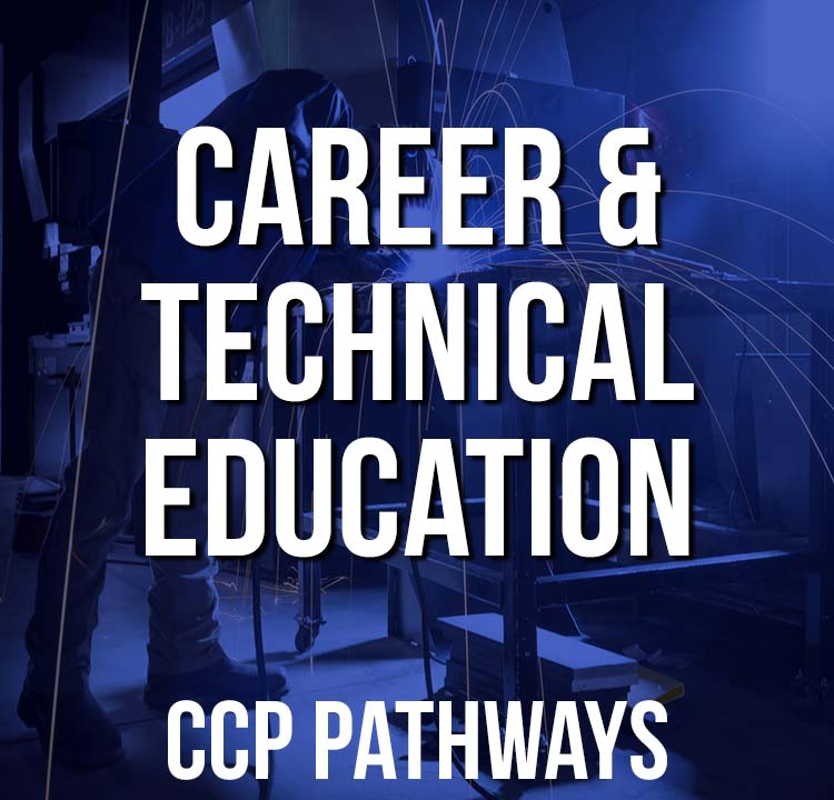 Career & Technical Education Pathway Graphic - Man Welding