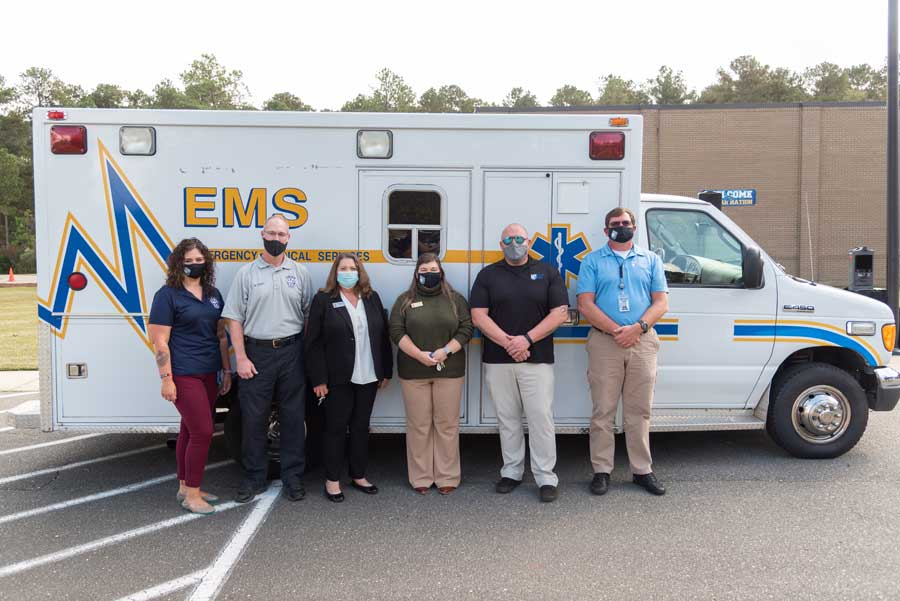 The Johnston County EMS has donated an ambulance to the Johnston Community College EMS program. The ambulance comes just in time, as state regulations will change in January, requiring a higher level of training in ambulance driving for certification. This ambulance will allow JCC to continue producing highly trained EMS personnel for the workforce.