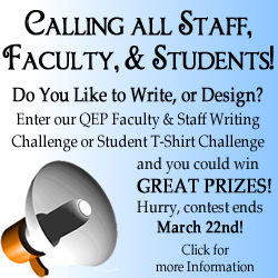 QEP Tshirt and Writing Contest