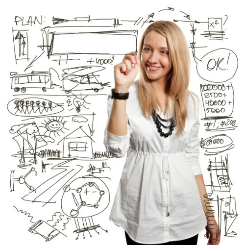student plan on whiteboard shutterstock_73995520