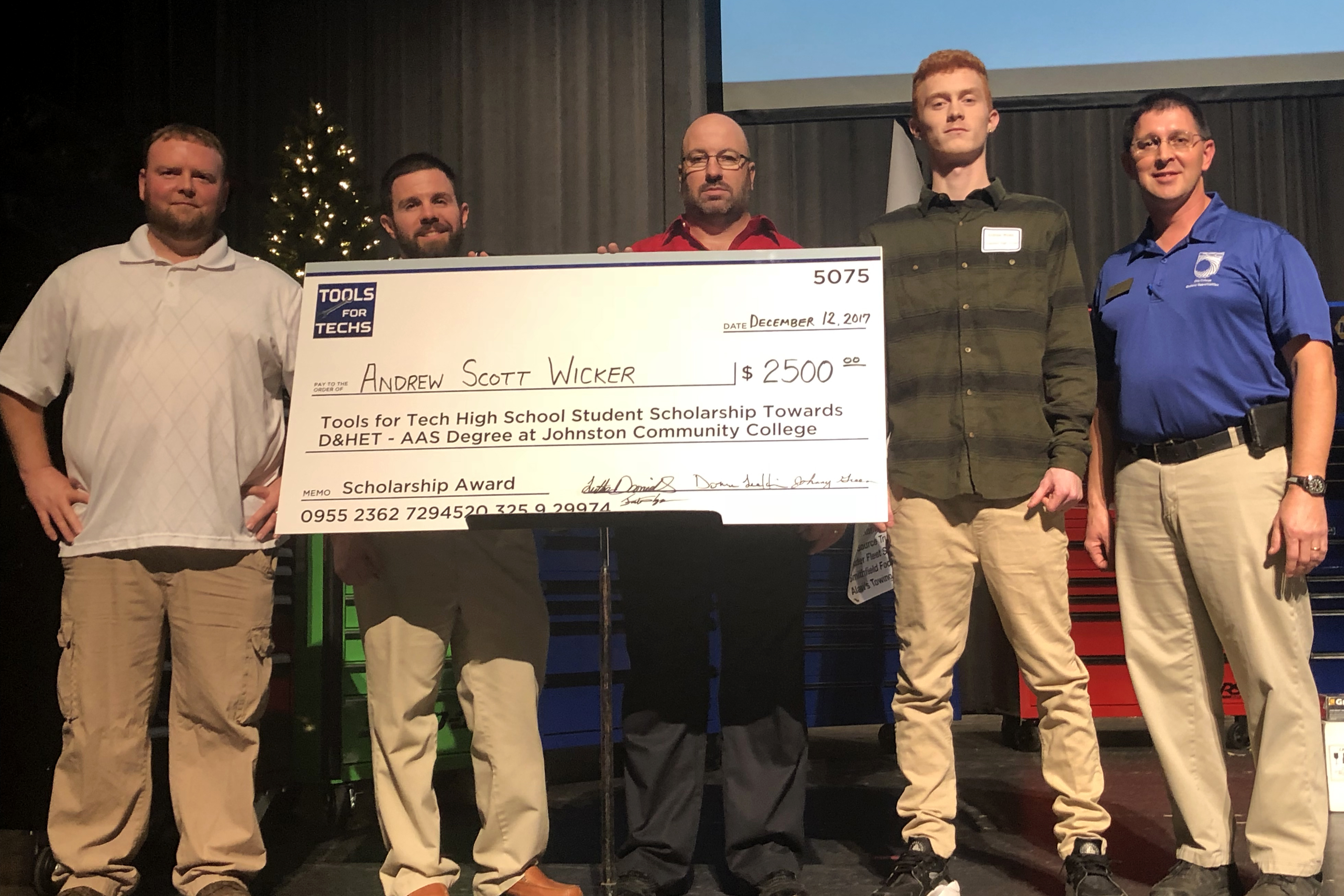 A Cleveland High student and current JCC student also received scholarships to study diesel mechanics.