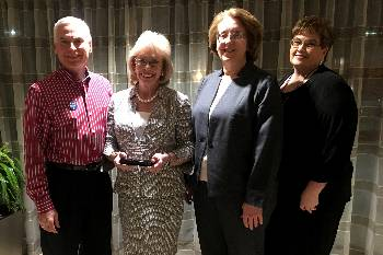 Dr. David Johnson, JCC president; Lyn Austin, chair of the JCC Board of Trustees; Dr. Deborah Porto, dean of business and advanced technologies; and Dee Dee Daughtry, vice president of instruction, presented at the Community College Futures Assembly and accepted JCC's 2017 Bellwether finalist award in Orlando, Fla.