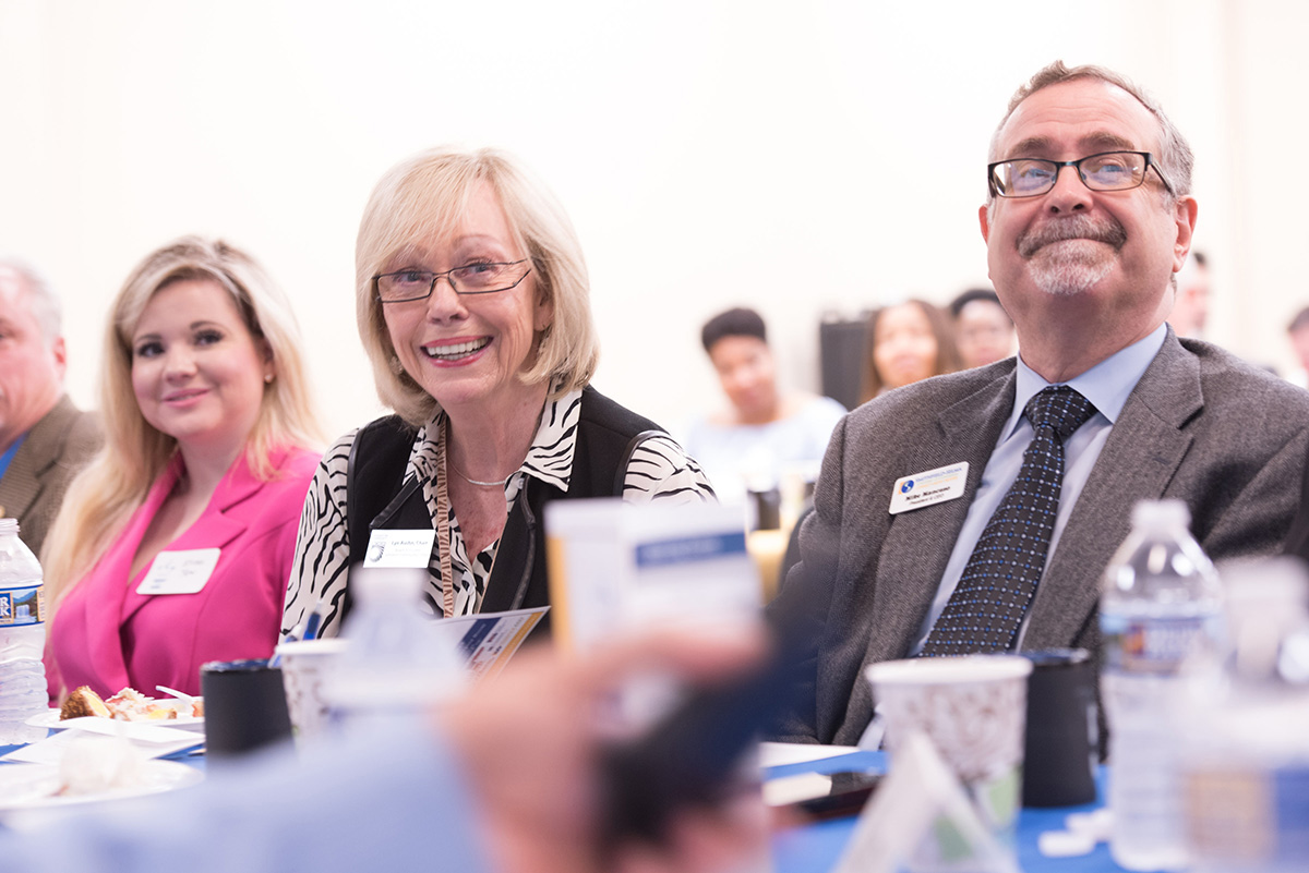 Lyn Austin, chair of the JCC Board of Trustees, and Mike Mancuso, president and CEO of Triangle East Chamber of Commerce attended the breakfast.