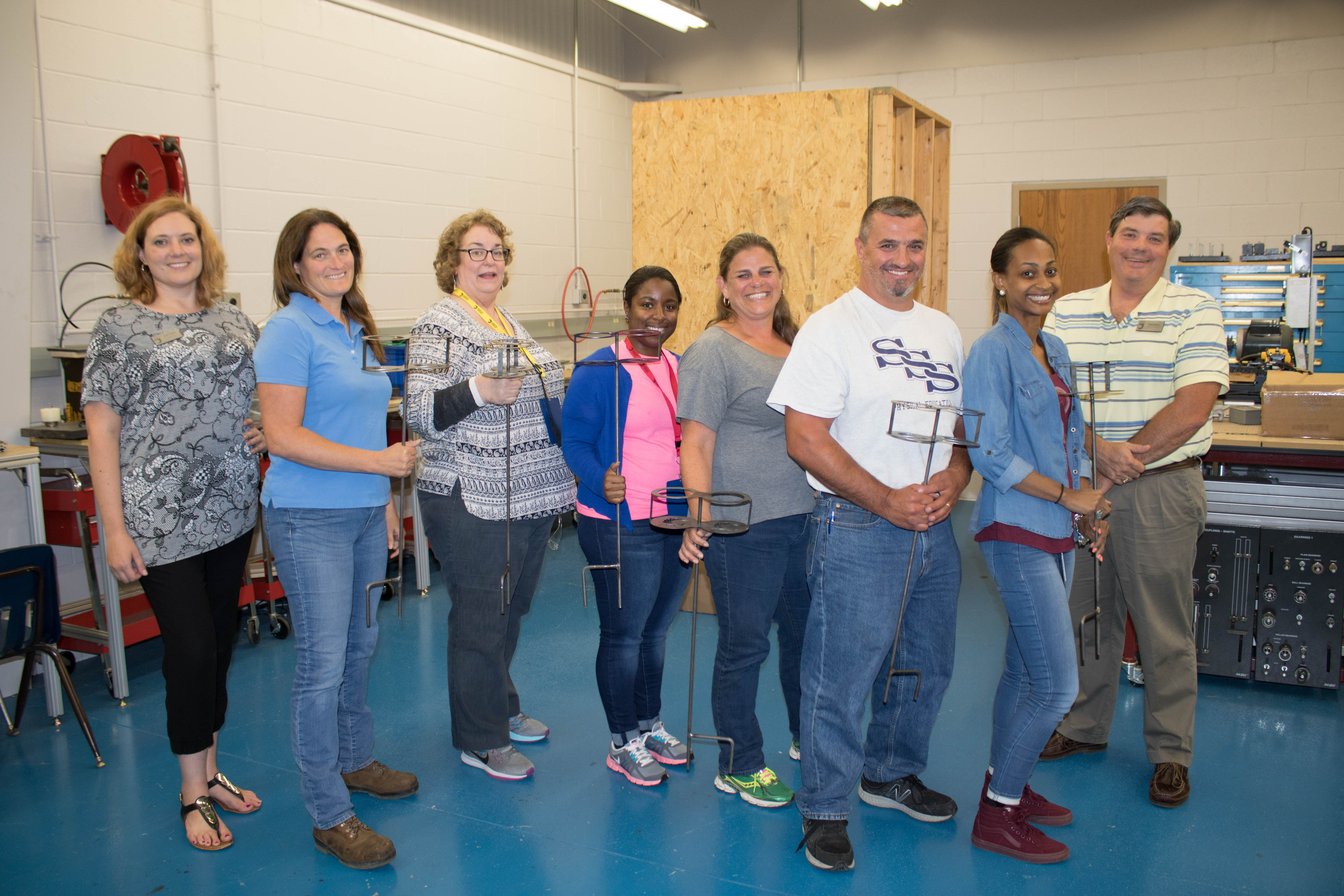 High school counselors, teachers get hands-on lessons about JCC programs.