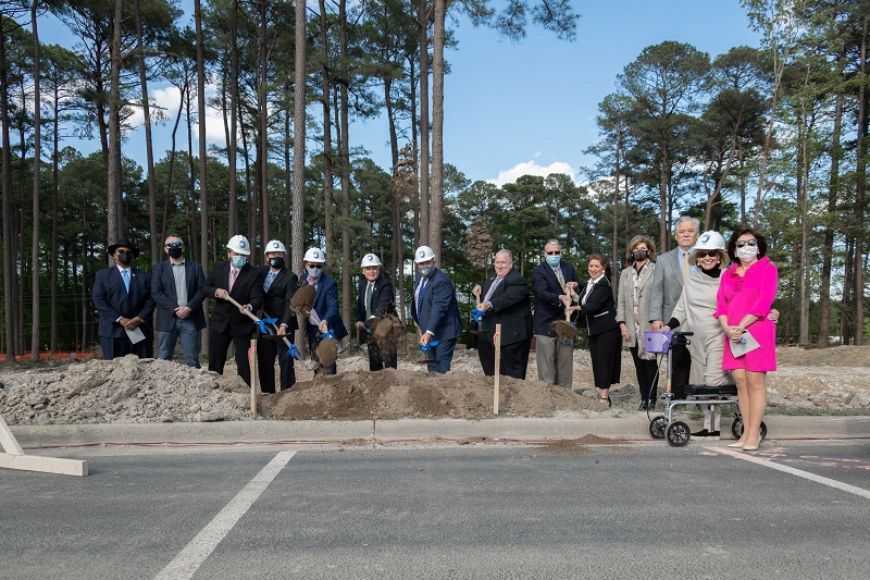 Construction is officially underway for the 50,000 sq. ft. engineering building paid for through a 2018 County Bond Referendum.
