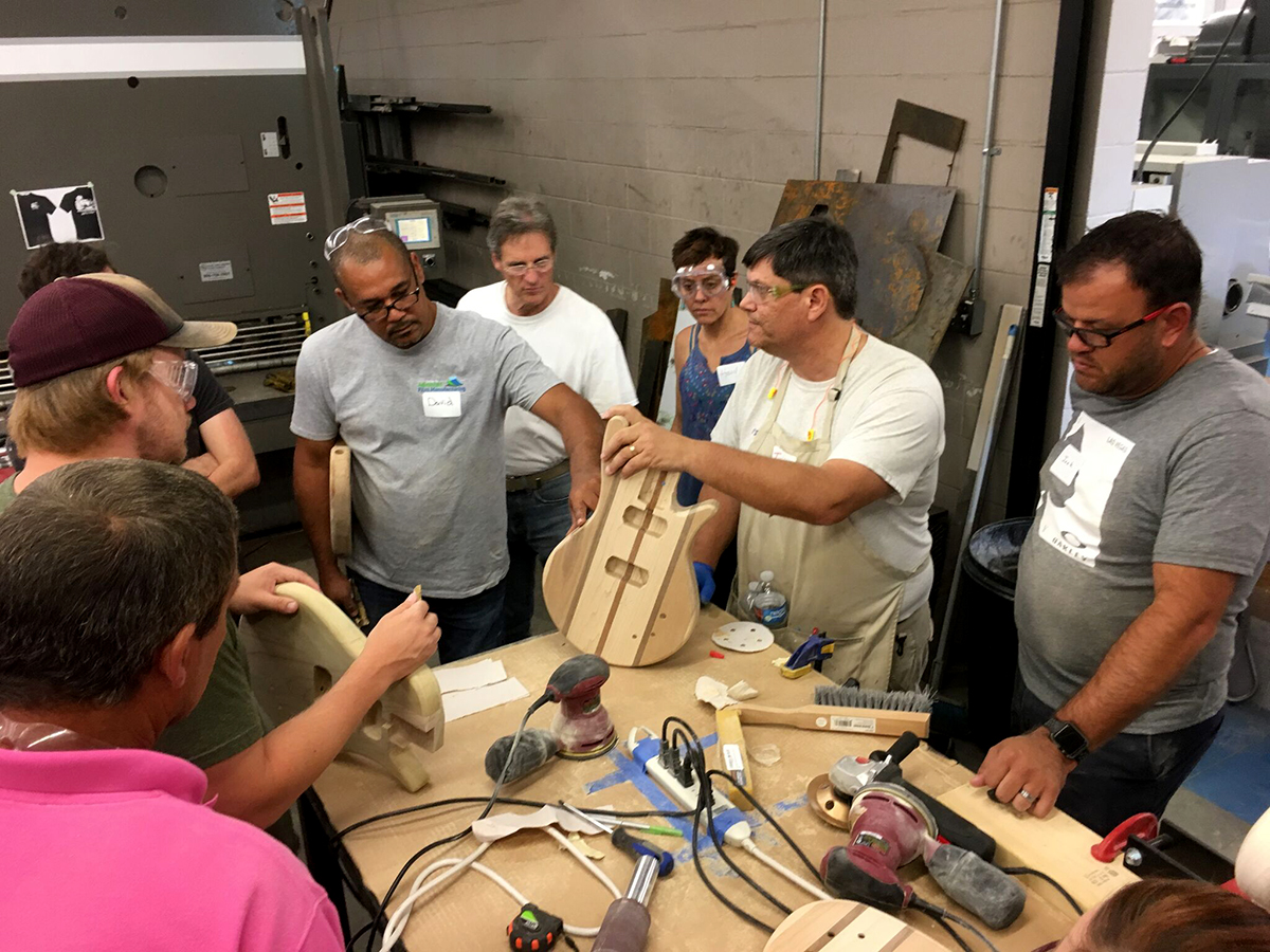 Workshop integrates science, math into guitar building.
