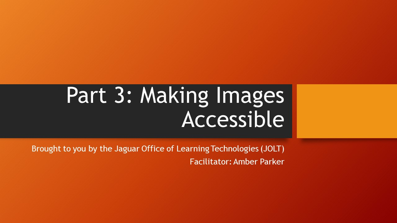 graphic image for making images more accessible tutorial