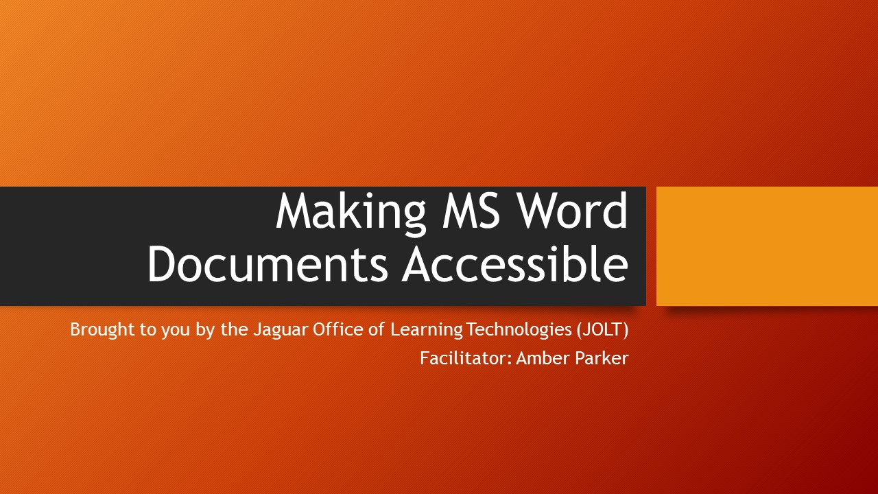 graphic image for making ms word docs more accessible