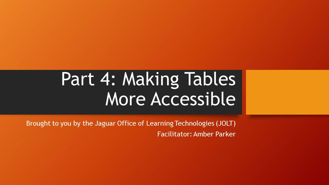 graphic image for making tables more accessible tutorial