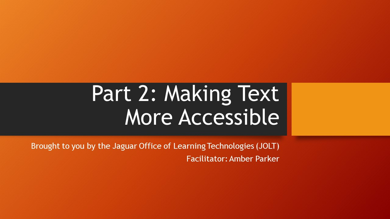 graphic image for making text more accessible tutorial