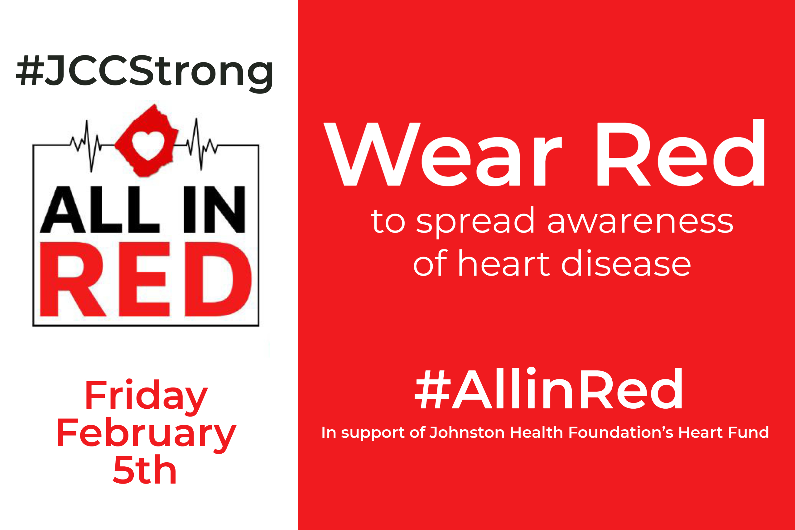 Heart disease is the leading cause of death in Johnston County, a statistic Johnston Health is dedicated to changing. Join us in supporting the Johnston Health Foundation's All in Red Campaign,