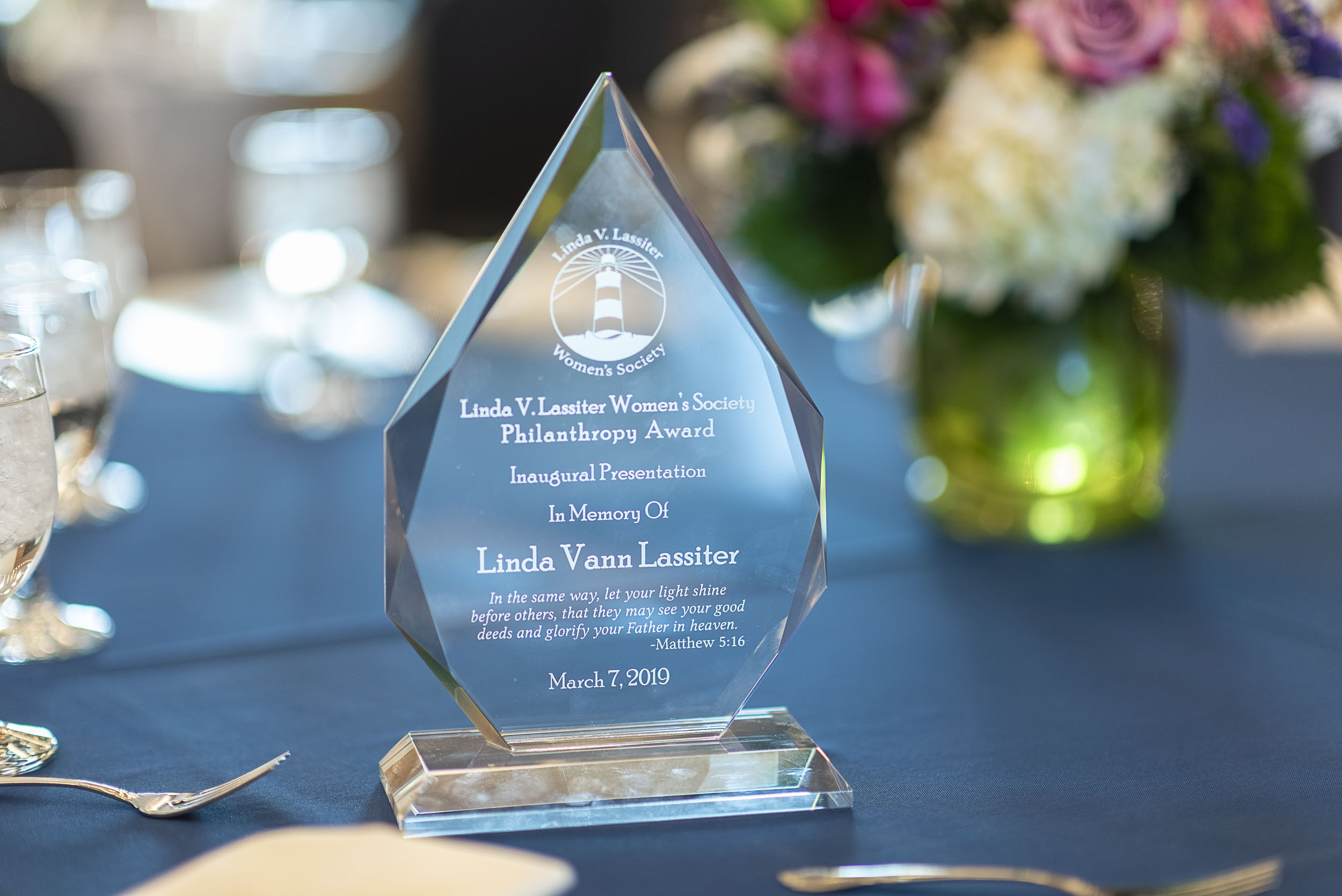 Nominations are currently being accepted for the Linda Vann Lassiter Women's Society Philanthropist of the Year. The honor is awarded annually to an individual who has made a positive impact in our community through giving, and whose philanthropic leadership sets an inspiring example for all with regard to time, talents, and treasures.
