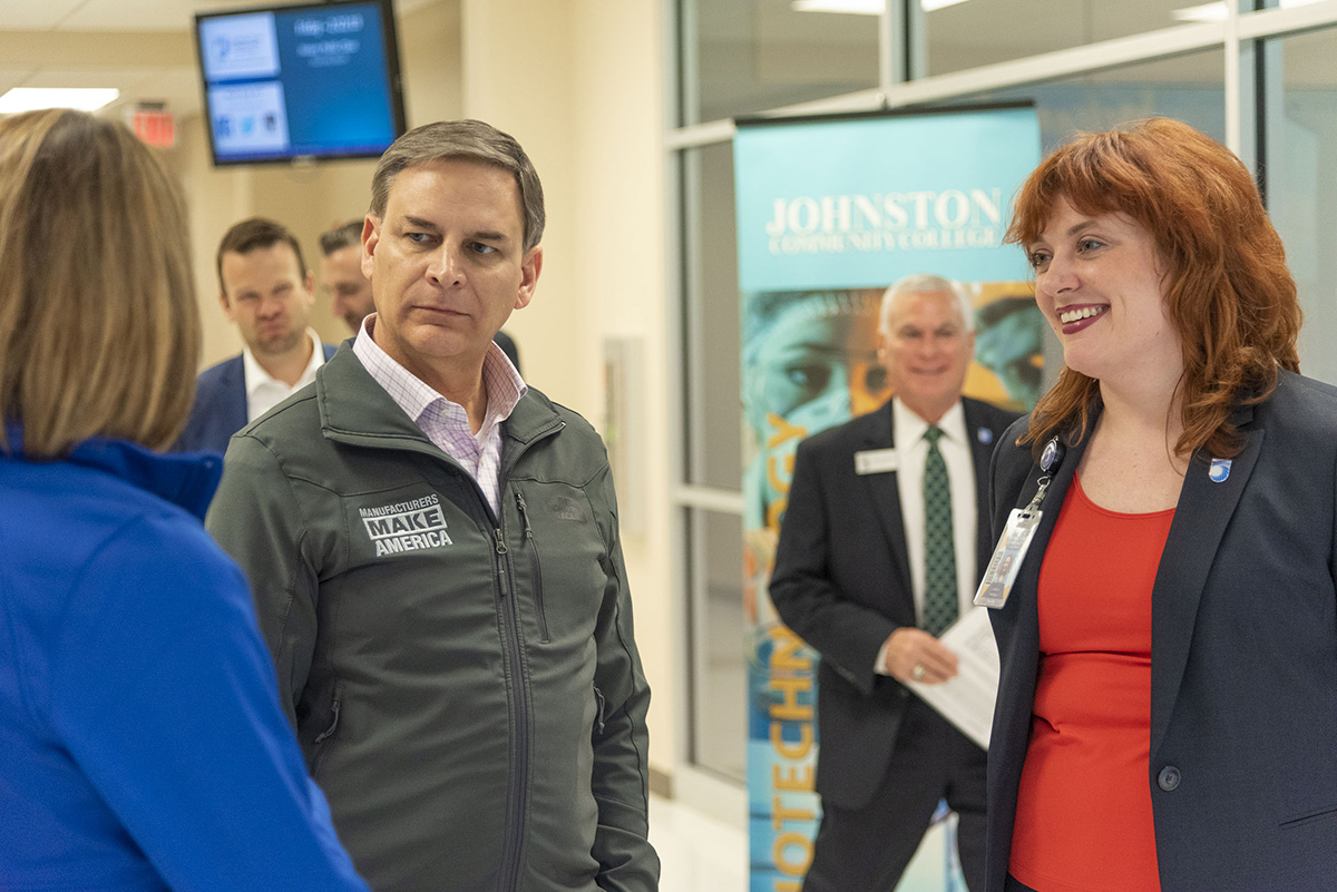 NAM President and CEO Jay Timmons visited the Johnston County Workforce Development Center Feb. 22 during the NAM State of Manufacturing Tour 2019.