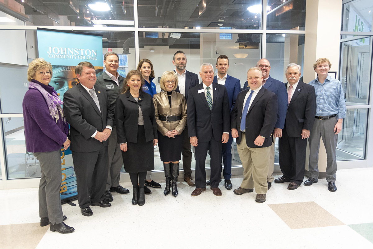 Industry leaders, elected officials, and college administrators attended the visit.