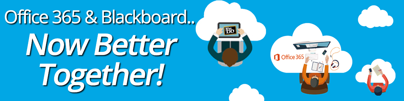 O365 and Blackboard banner