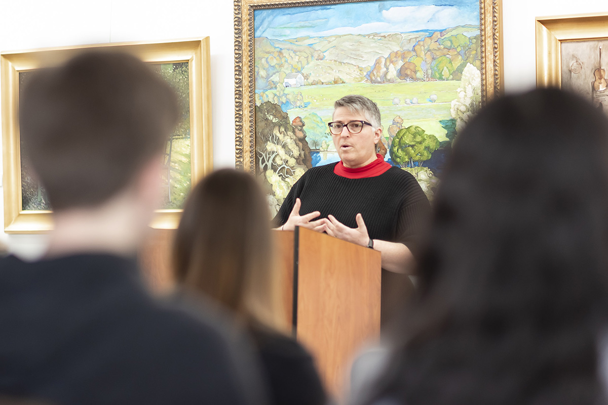 Dr. Tammy Bird, department chair of English, humanities, and foreign language, shares her personal development as an author during the World of Words Writer's Series.